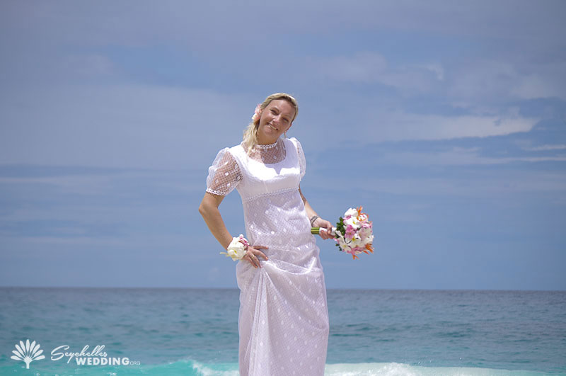 German couple wedding Seychelles