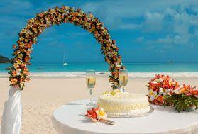 Seychelles Beach Wedding Packages Menu