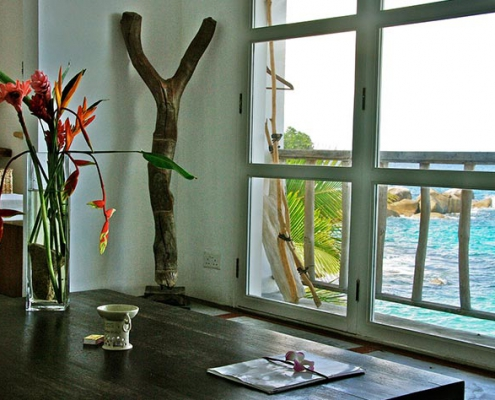 This image shows the Bliss Hotel seaside apartment