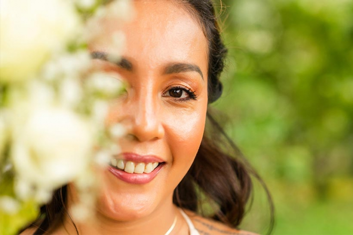 This photo shows a bride portrait