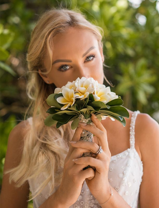 This photo shows a bride portrait in front of Mangroves