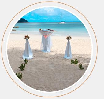 Das Bild zeigt das MyLove Hochzeitspaket