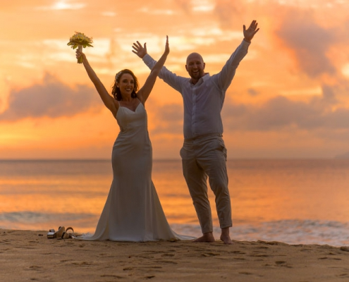 couple at sunset Mahe