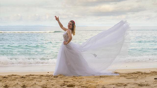 Eheversprechen erneuern Seychellen symbolische Hochzeit