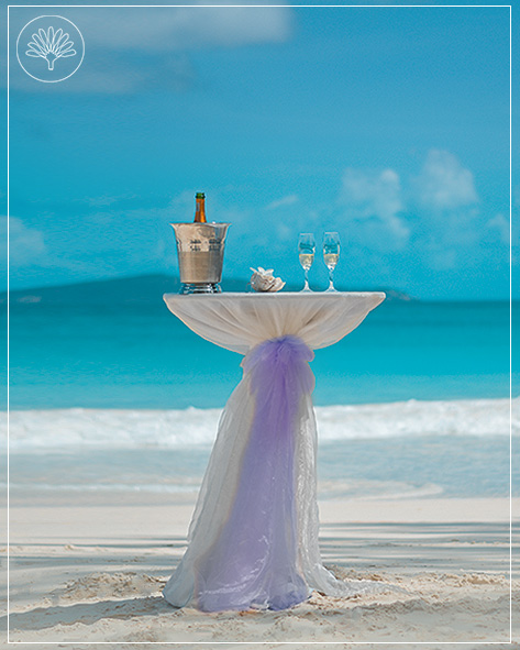 This image shows the MyLove beach wedding package