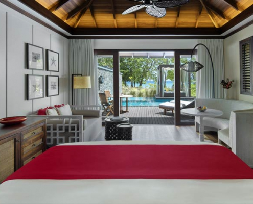 This shows a photo of the Story Resort beach villa with pool