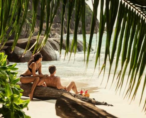 Four Seasons Honeymoon Couple at the Beach