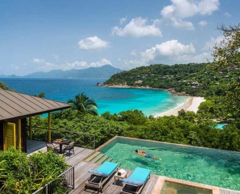 Four Seasons view on Petite Anse