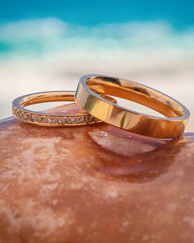 This image shows wedding rings